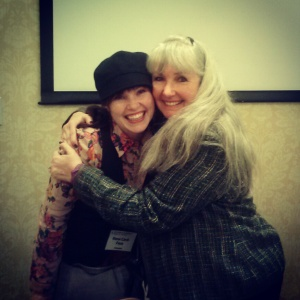 Me and my mom at the Life, the Universe and Everything Conference, where she ROCKED as a presenter.
