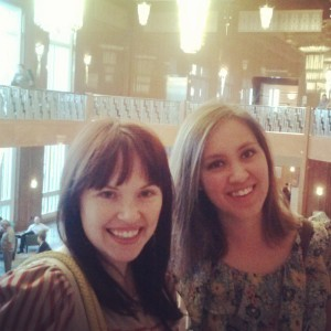 Me and one of the sis-in-law's before we went in to hear Ira Glass speak.