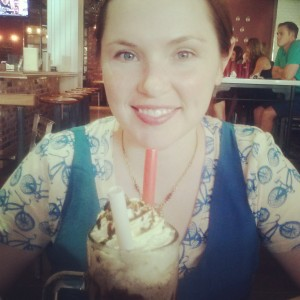 Worn out after spending day in 110 degree sun -- so happy for this Meatball Spot milkshake.