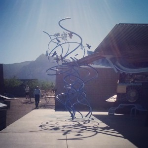 Long shot of my dad at the Red Rock visitor's center. So glad parents could visit. Miss them tons.