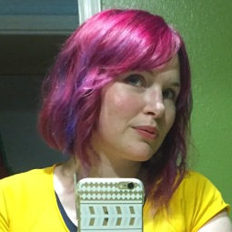 Accidentally purple-ized my hair, but I like it.