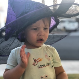 She had to pronounce her displeasure over each of our spooky Halloween decorations.