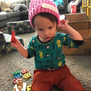 Hat made by her great grandpa